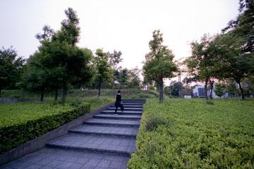 SFCの階段メビウスリング・デルタ館への階段