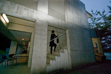 SFCの階段サークル棟の階段