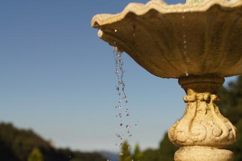 噴水の撮影例