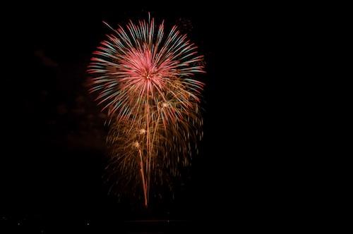 花火の撮影例
