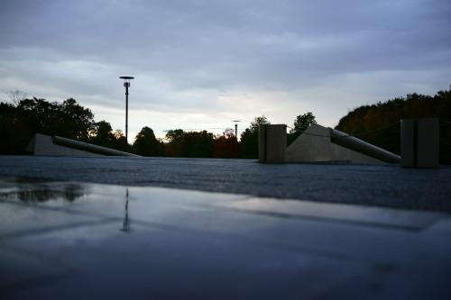雨が彩る夕陽