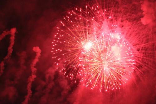 過去の七夕祭で打ち上がった花火