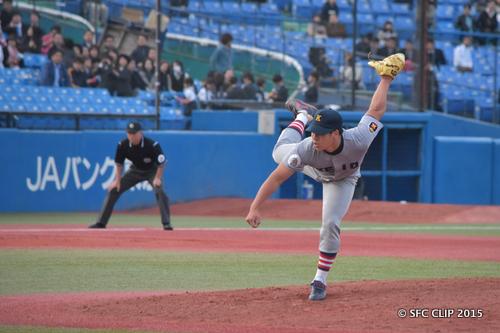 義塾のエース 加藤拓選手