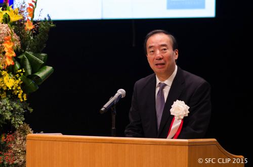 清家篤塾長は塾内外からの多大なる支援に謝辞を述べた。