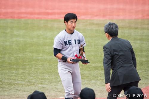 首位打者を獲得した山本瑛選手 最終打率は0.475の超好成績だ