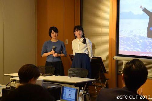 ゲストハウスの概要を説明する高橋さん(右)と山浦さん(左)
