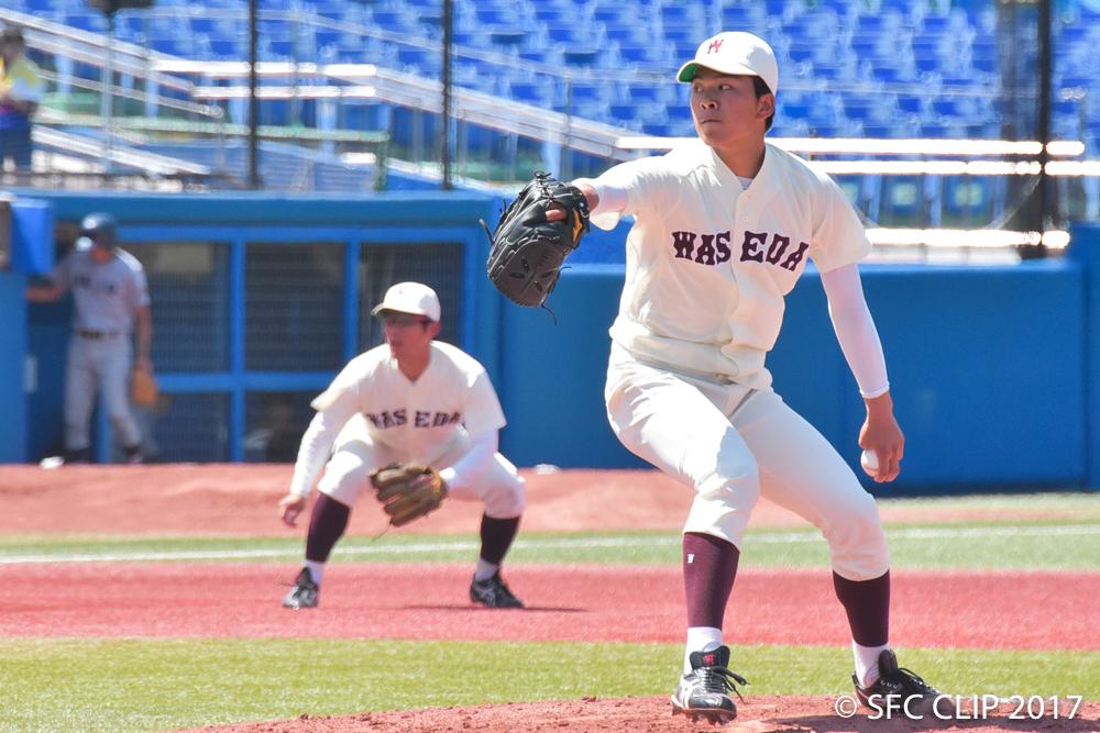 早稲田の先発を務める注目のルーキー早川投手