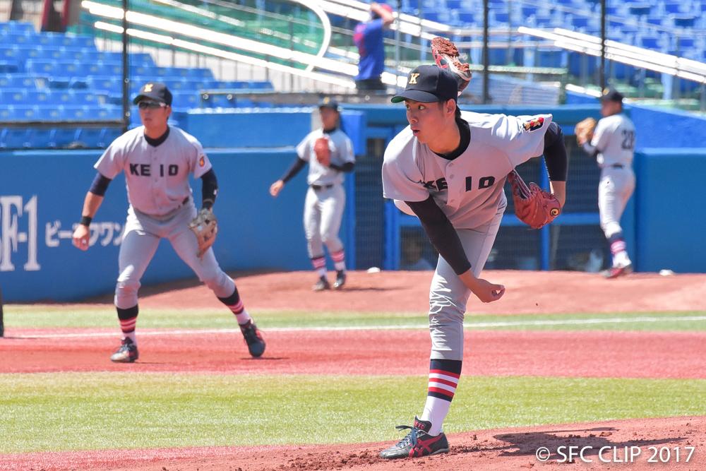 早慶戦最終日も昨日、一昨日と登板した菊地投手が先発を務めた