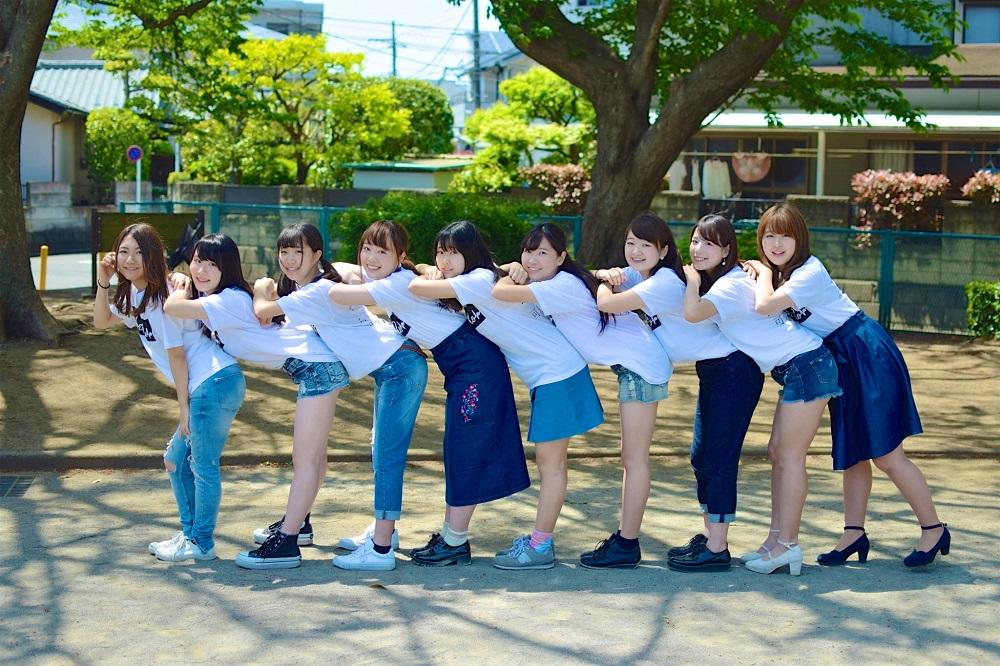 左から、ゆり・みかめろ・まりこ・ありさ・しゃえ・みさき・ようこ・さわ・りな(写真: マネージャー・武田さん提供)