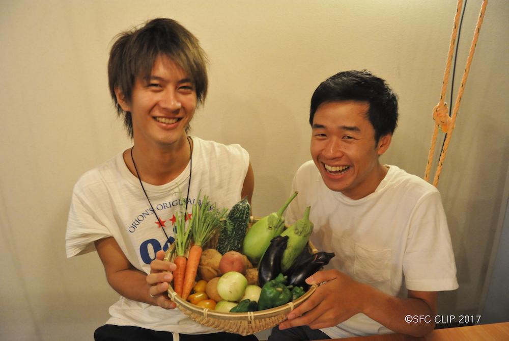 主催者の吉岡太郎さん(総2・写真右)と小川賢人さん(環2・写真左)