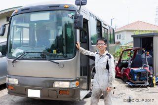 「SFCに「バス通学」するためにバスを購入!? 上野啓太さん(環4)にインタビュー」の画像