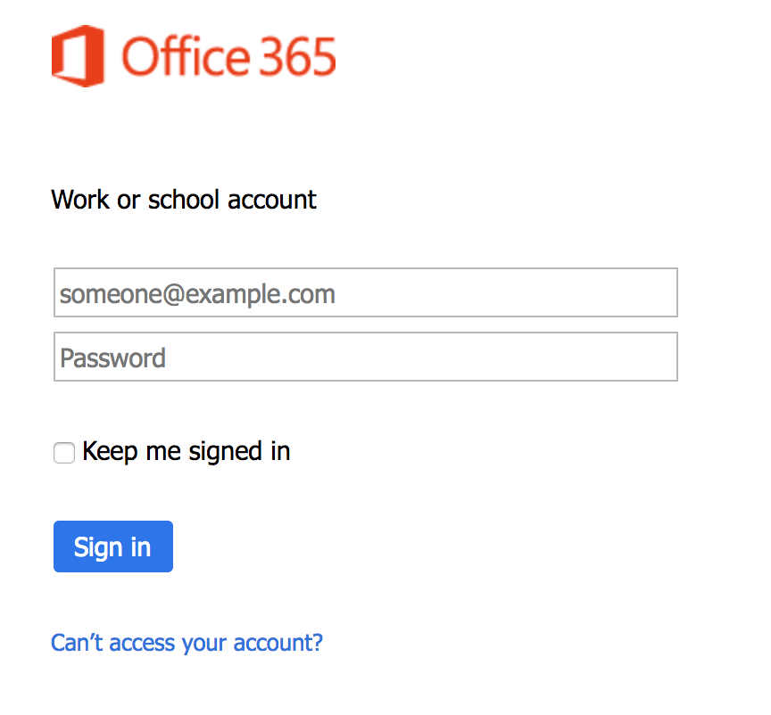 One Office 365 sign-in page you might see