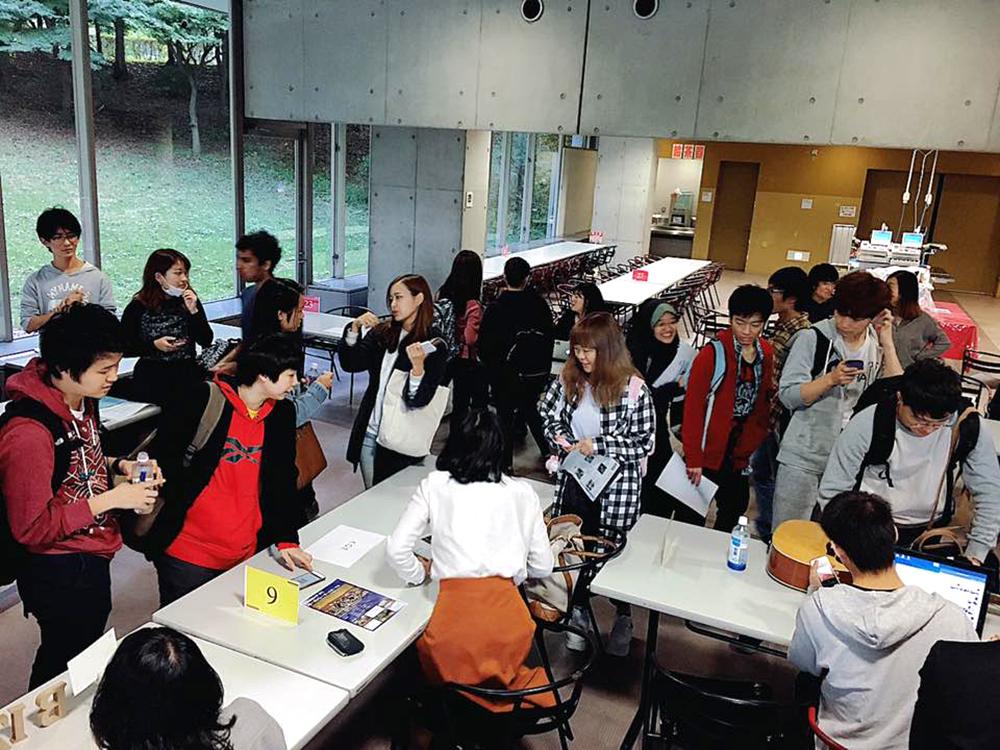 AIS主催の秋入学者を主に対象にしたサークルオリエンテーションの様子(AIS提供)