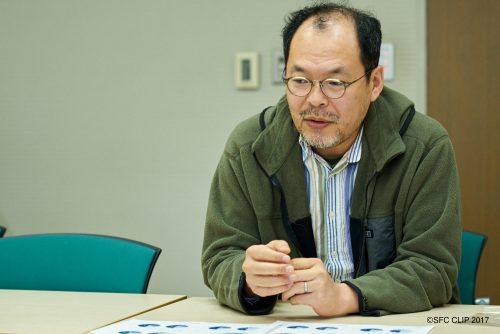 前カリキュラム委員長を務め、「通りたい度」を考案した内藤准教授