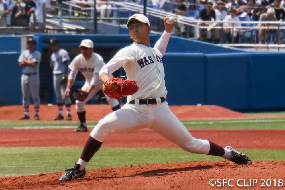 早稲田先発の小島投手 昨秋の雪辱に燃える