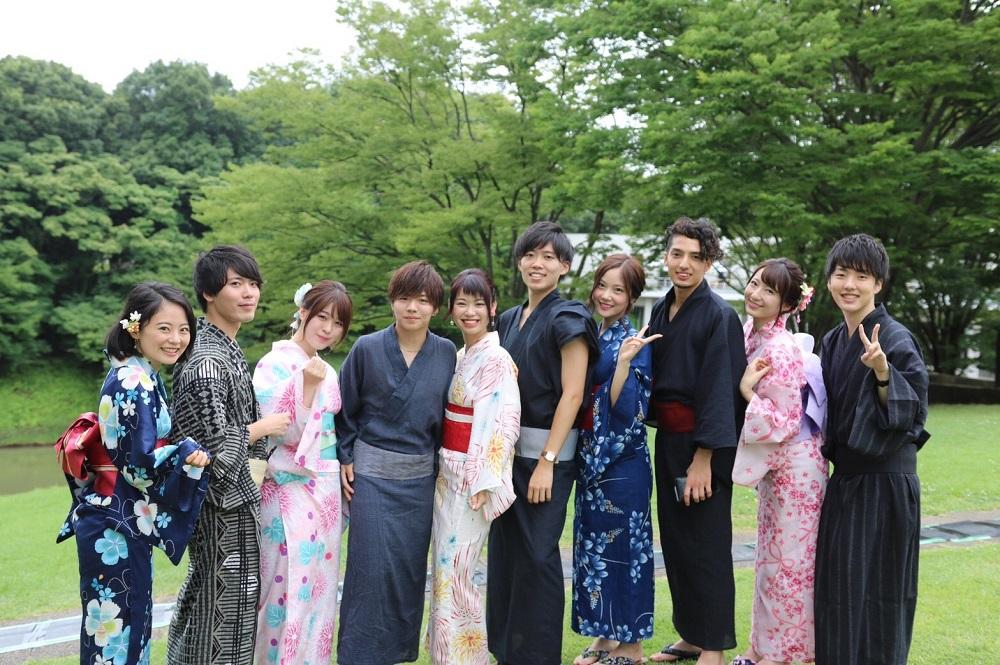 七夕祭での集合写真(提供:ミス・ミスター慶應SFCコンテスト2018)