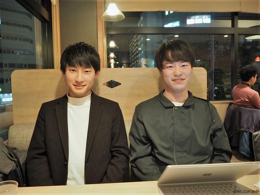 ビジネス研ゼミ長の藤澤さん(左)とパース研ゼミ長の日森さん(右)