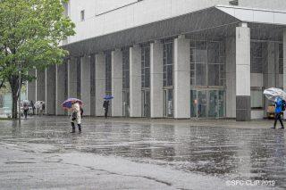 「豪雨に見舞われたSFC 休講や遠隔授業も」の画像