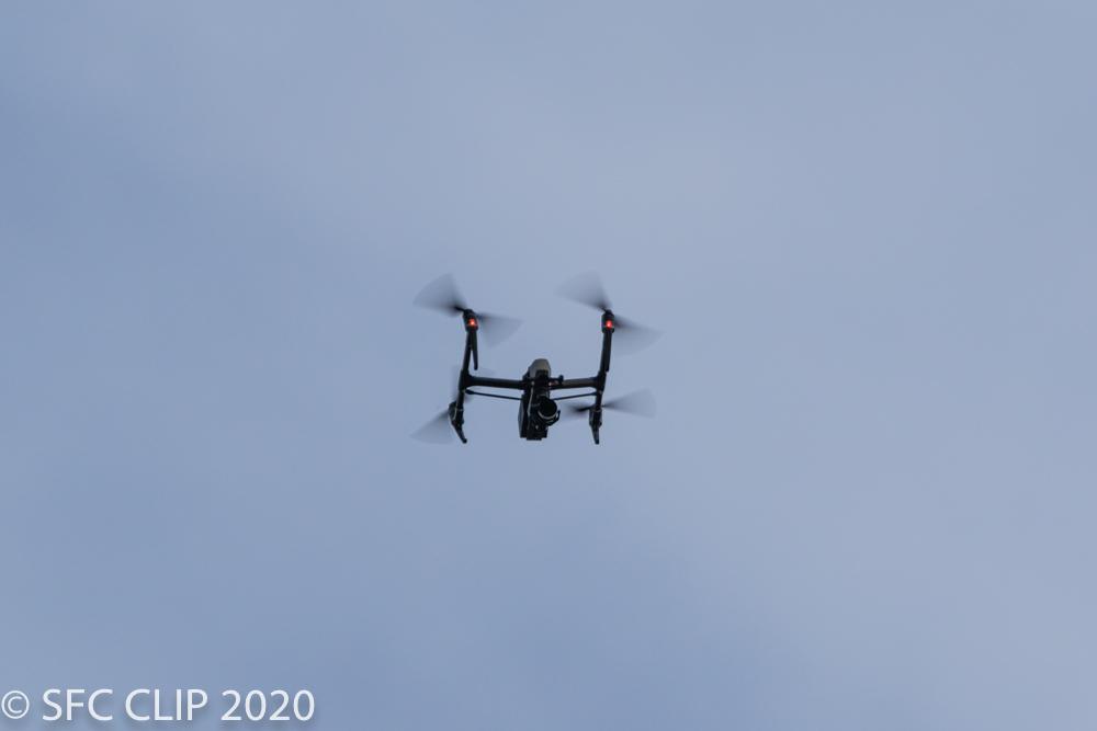 SFC上空で飛行するドローン