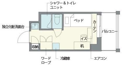個室の間取り図(西松地所公式サイトより引用)