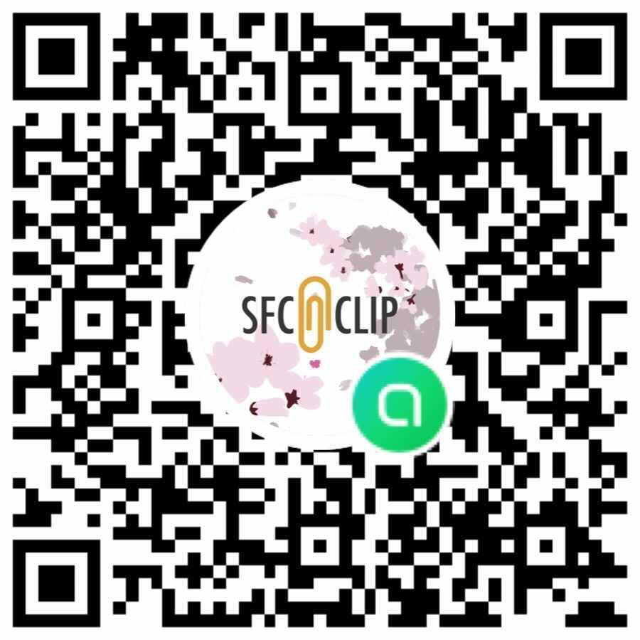 SFC CLIP新歓2021 LINEオープンチャット QRコード